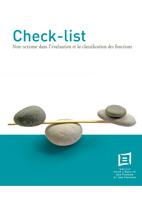 Couverture Check-list non-sexisme dans l'évaluation et la classification des fonctions