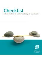 Cover Checklist sekseneutraliteit bij functiewaardering en -classificatie