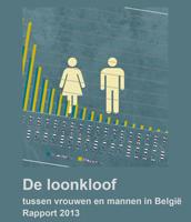 Cover De loonkloof tussen vrouwen en mannen in België - Rapport 2013