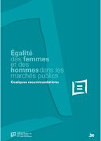 Couverture Egalité des femmes et des hommes dans les marchés publics