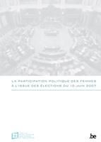 Couverture La participation politique des femmes à l'issue des élections du 10 juin 2007