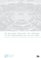 Cover De politieke deelname van vrouwen na de verkiezingen van 10 juni 2007