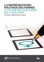 Couverture La représentation politique des femmes à l'issue des élections du 7 juin 2009