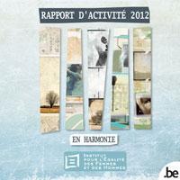 Couverture Rapport d'activités 2012
